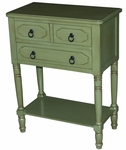 Simple Simplicity 3 Drawer Chest - Green [550397-FS-DCON]