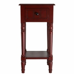 Simplicity Solid Wood End Table - Red [570715-FS-DCON]