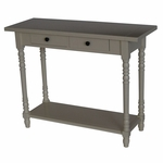 Simplicity Solid Wood Entry Table - Gray [570479-FS-DCON]