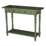 Simplicity Solid Wood Entry Table - Green [570379-FS-DCON]
