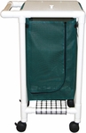 Single Bag Hamper with Mesh Bag and Casters - 18.750''W X 23.750''D X 38.5''H [214-S-MJM]