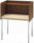 Single-Sided Adjustable Height Starter Study Carrel - 37''W x 24''D x 41''- 46''H [01285-SCI]