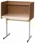 Adjustable Single-Sided Pedestal Starter Carrel - 37''D x 36''W x 47''H [01700-SCI]