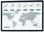Six-City World Time Wall Clock [QXA538KLH-FS-SEI]