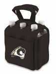 Six Pack Beverage Tote - Black- Virginia Commonwealth University Digital Print [608-00-179-954-0-FS-PNT]