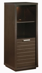 Skyline Collection Contemporary Chocolate Shelf Bookcase [4359651-FS-SS]