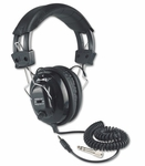 Deluxe Stereo Headphones with Volume Control for Each Ear and Six Foot Cord - 10''W x 8''D x 4''H [SL1002-FS-AMP]