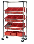 Slanted Wire Shelving with Dividable Grid Containers [WRS-5-92035-QSS]