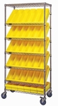 Slanted Wire Shelving with 24 Euro Drawers - Yellow [WRS-7-606-YL-QSS]