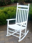 Slat Back Wooden Rocking Chair with Finials [410RTA-FS-DIX]