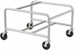 23.5'' W x 27.5'' D x 17'' H Sled Base Stack Chair Cart - Silver [4190SL-FS-SAF]