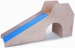 Sturdy Birch Laminate Slide with Stairs and Tunnel [WB8115-FS-WBR]