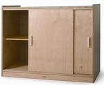 Sliding Doors Birch Laminate Storage Cabinet in Natural UV Finish [WB9698-FS-WBR]