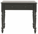 Mayfair Wood Single Drawer 34''W x 19''D Small Desk - Antique Black [3419-AB-FS-CCTCO]