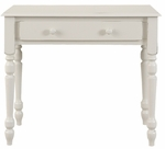Mayfair Wood Single Drawer 34''W x 19''D Small Desk - Antique Ivory [3419-AP-FS-CCTCO]