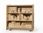 Small Birch Laminate Block Storage Cart [WB0510-FS-WBR]