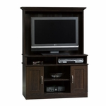 Wooden 41.5''W x 59''H Entertainment Center with Cubbyhole Storage - Cinnamon Cherry [403933-FS-SRTA]