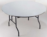 EP Series Small Plywood Core 30''Diameter Round Folding Table - 30''H [R30EP-MFT]