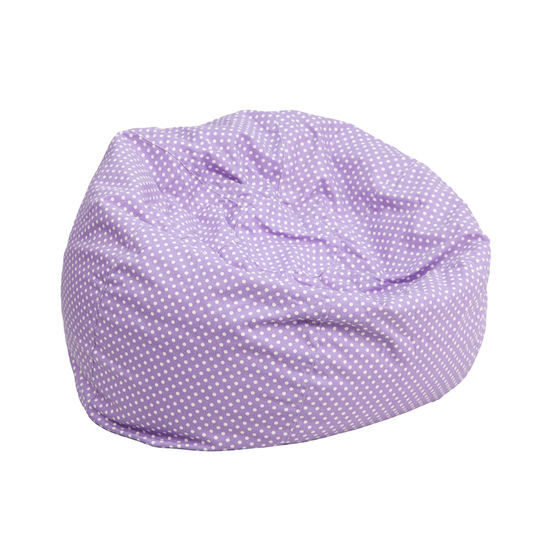 ... Kids Bean Bag Chair, DG-BEAN-SMALL-DOT-PUR-GG by Flash Furniture