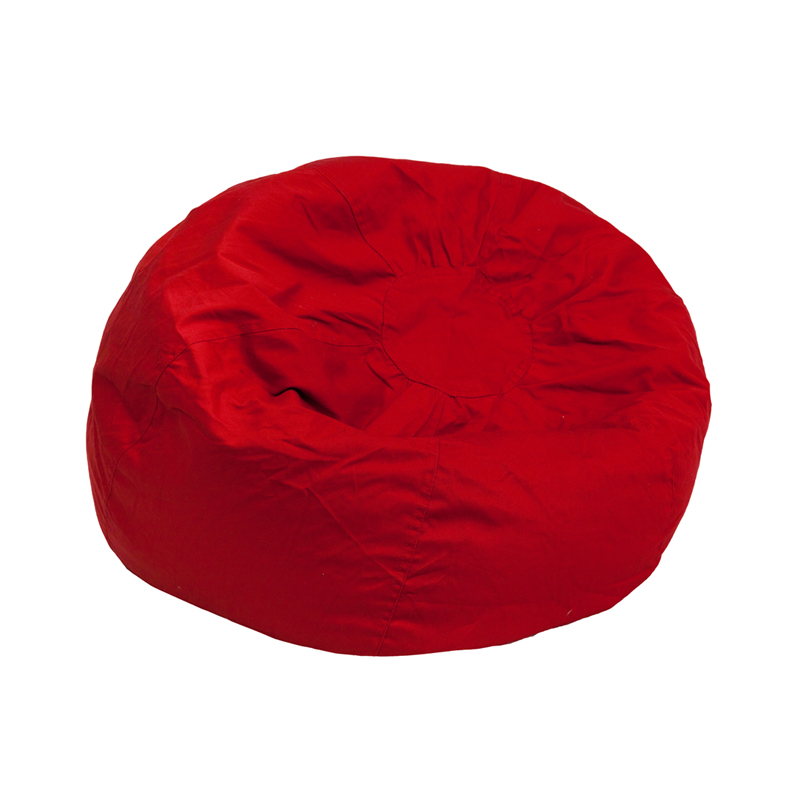 Small Solid Red Kids Bean Bag Chair Dg Bean Small Solid