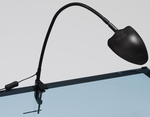 Modern LED Flexible Neck Snake Lamp with USB Plug and Desk Clamp - Black [12014-FS-SDI]
