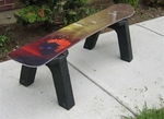 Snow Board Table/Seat [SNBDTBL-FS-ISK]