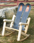 Snowboard Log Rocking Chair [ISK-LOGROCK-FS-ISK]