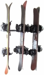 Powder Coated Steel Snowboard Rack with 3 Storage Hooks [03001-FS-MBG]