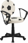 Soccer Task Chair with Arms [BT-6177-SOC-A-GG]