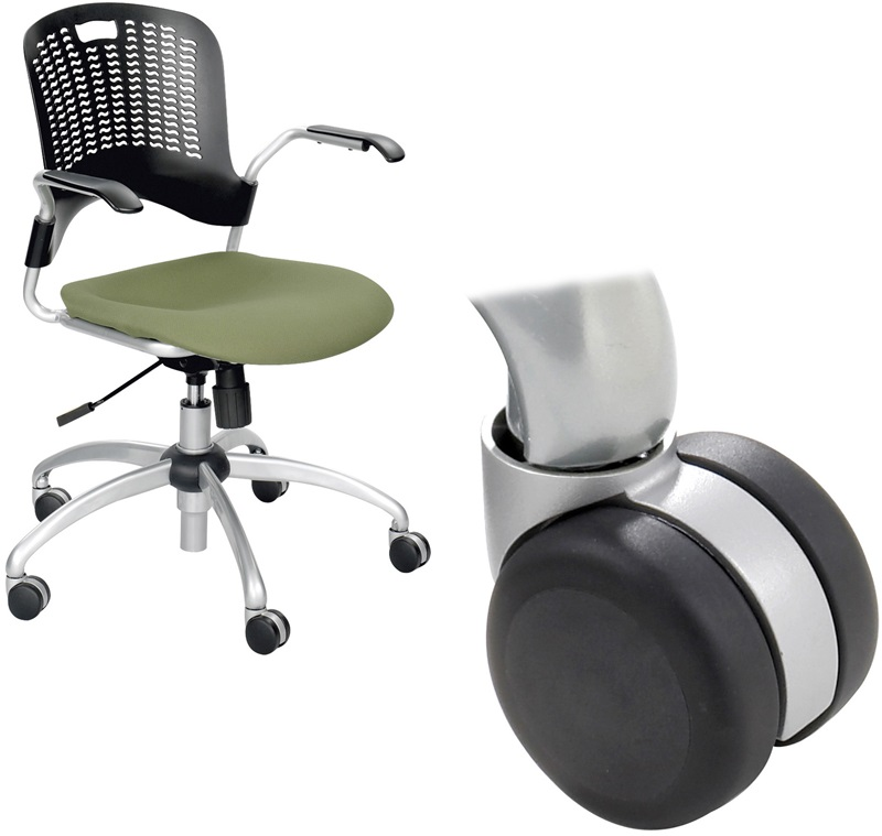 soft casters for sassy chairs set of five black