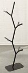 Soft Modern 71''H Tree Style Metal Frame Coat Rack - Black [414996-FS-SRTA]