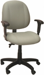 Soft-Sit 24.5'' W x 22'' D x 40.5'' H Adjustable Height and Width Mid-Back Chair with Deluxe Task Control [E-52852V-FS-EOF]