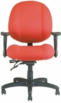 Soft-Sit 24.5'' W x 22'' D x 40.5'' H Adjustable Height and Width Mid-Back Chair with Executive Control [E-52854V-FS-EOF]