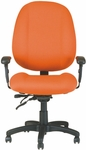 Soft-Sit 24'' W x 22'' D x 44.5'' H Adjustable Height and Width High-Back Chair with Executive Control [E-52884V-FS-EOF]