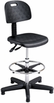 Soft Tough™ 22'' H Adjustable Height Deluxe Workbench Drafting Stool - Black [6912-FS-SAF]