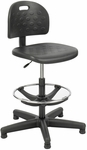 Soft Tough™ 22'' H Adjustable Height Economy Workbench Drafting Chair with Footrest - Black [6680-FS-SAF]