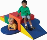 Quick Ship Multicolor Soft Tunnel Climber - 69''L x 68''W x 18''H [CF321-049-FS-CHF]