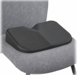 SoftSpot® 15.5'' W x 10'' D x 3'' H Seat Cushion - Set of Five - Black [7152BL-FS-SAF]