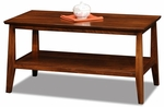Delton Collection 38''W x 20''H Solid Wood Coffee Table with Display Shelf - Sienna [10403-FS-LCK]