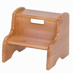 Solid Wood Kid's Step Stool [105WOOD-FS-LC]