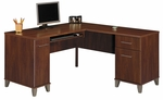 Somerset 59.25''W x 59.25''D L-Shaped Computer Desk - Hansen Cherry [WC81730K-FS-BHF]