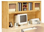 Somerset 71''W L-Shaped Computer Desk Hutch - Maple Cross [WC81411-FS-BHF]