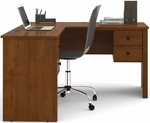 Somerville L-Shaped Desk with File Drawer and Wire Management - Tuscany Brown [45420-1163-FS-BS]