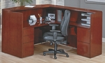 OSP Furniture Sonoma Wood Reception Station - Cherry [SONTYP19-FS-OS]