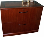 Sorrento Two Drawer Lateral File - Bourbon Cherry [SLF2SCR-FS-MAY]