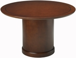 Sorrento 48'' Dia x 29.5'' H Round Conference Table - Bourbon Cherry [SCR48SCR-FS-MAY]