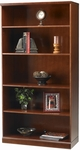 Sorrento 36'' W x 15'' D x 70'' H Five Shelf Bookcase - Bourbon Cherry [SB5SCR-FS-MAY]