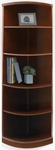 Sorrento 18'' W x 18'' D x 70'' H Five Shelf Quarter-Round Bookcase - Bourbon Cherry [SBQ5SCR-FS-MAY]