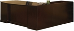 Sorrento Executive L Shaped Bow Front Desk with Pencil Box File Pedestal and Left Return with File File Pedestal- Bourbon Cherry [SLLBBF72SCR-FS-MAY]