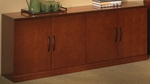 Sorrento 72'' W Low Wall Cabinet with Wood Doors- Bourbon Cherry [SLCSCR-FS-MAY]